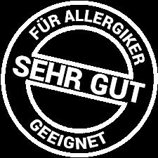 Für Allergiker sehr gut geeignet